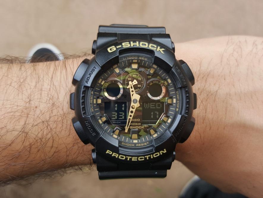 3d898000f1cf reloj de hombre negro camuflajeado casio g-shock ga100cf-1a9. Cargando zoom.