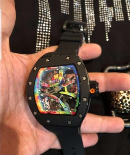 reloj de lujo automatico rm 68 caucho richard mille