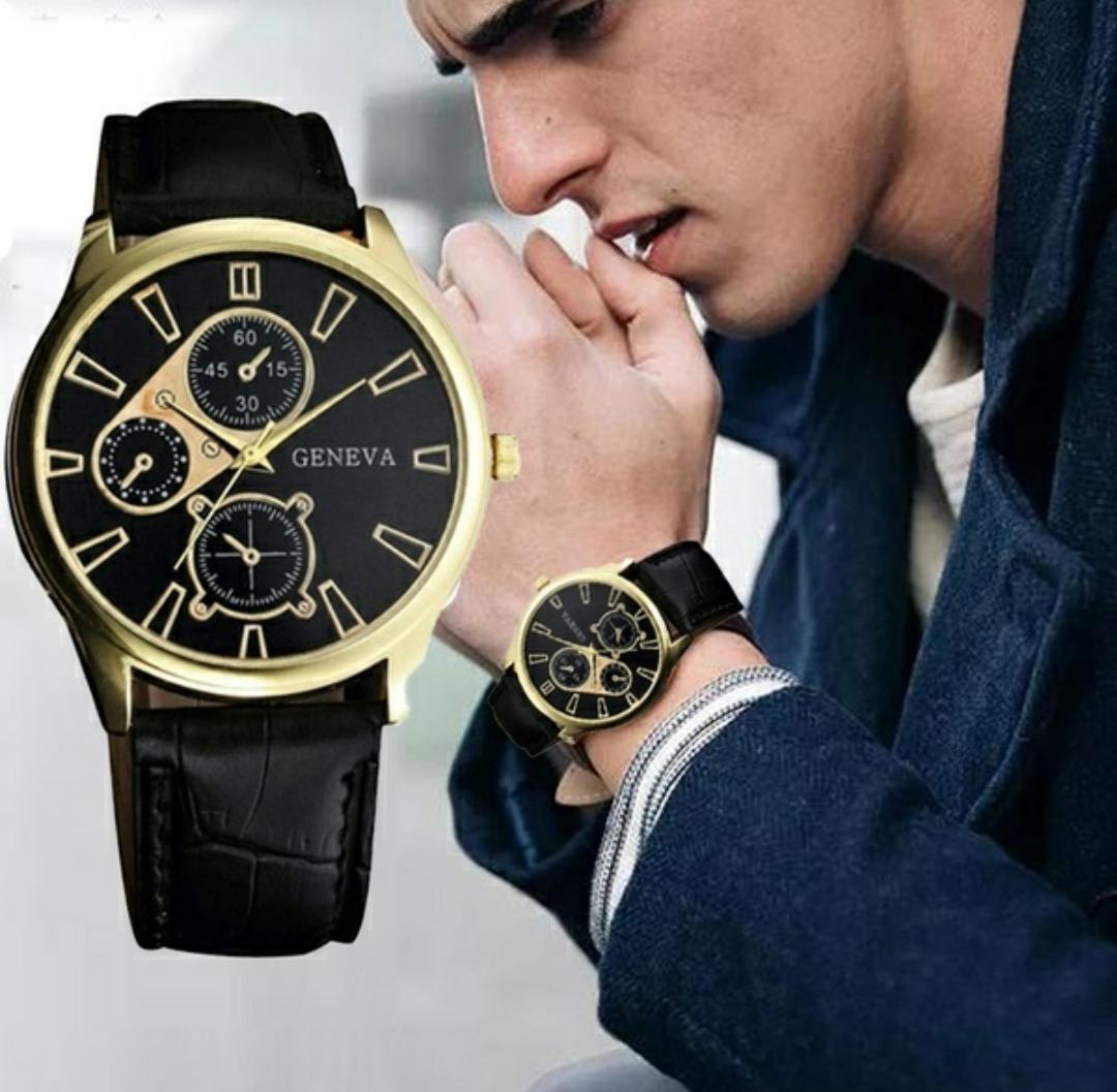 e94c122190a8 reloj de lujo para hombre moda 2018 único y elegante gold. Cargando zoom.
