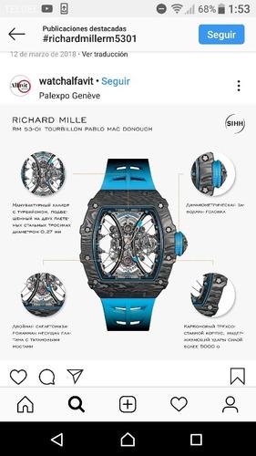 reloj de lujo rm 53 automático richard mille