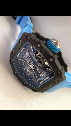 reloj de lujo rm 53 automático richard mille azul