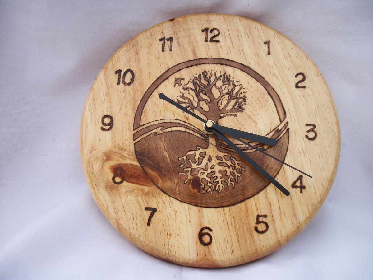 Reloj de madera arbol de la vida 530 00 en mercado libre - Reloj pared madera ...