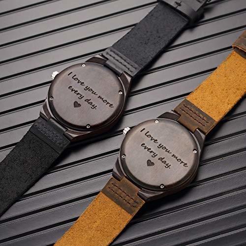 Reloj De Madera Grabado Regalos De Aniversario Para Hombres