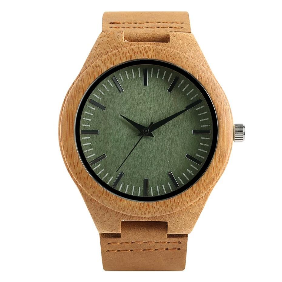 e3cf41e9f753 Reloj De Madera Para Hombre Dial Verde Madera De Bambú -   70.000 en ...