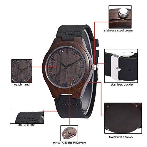 reloj de madera personalizado para hombre papá hijo hijo gr