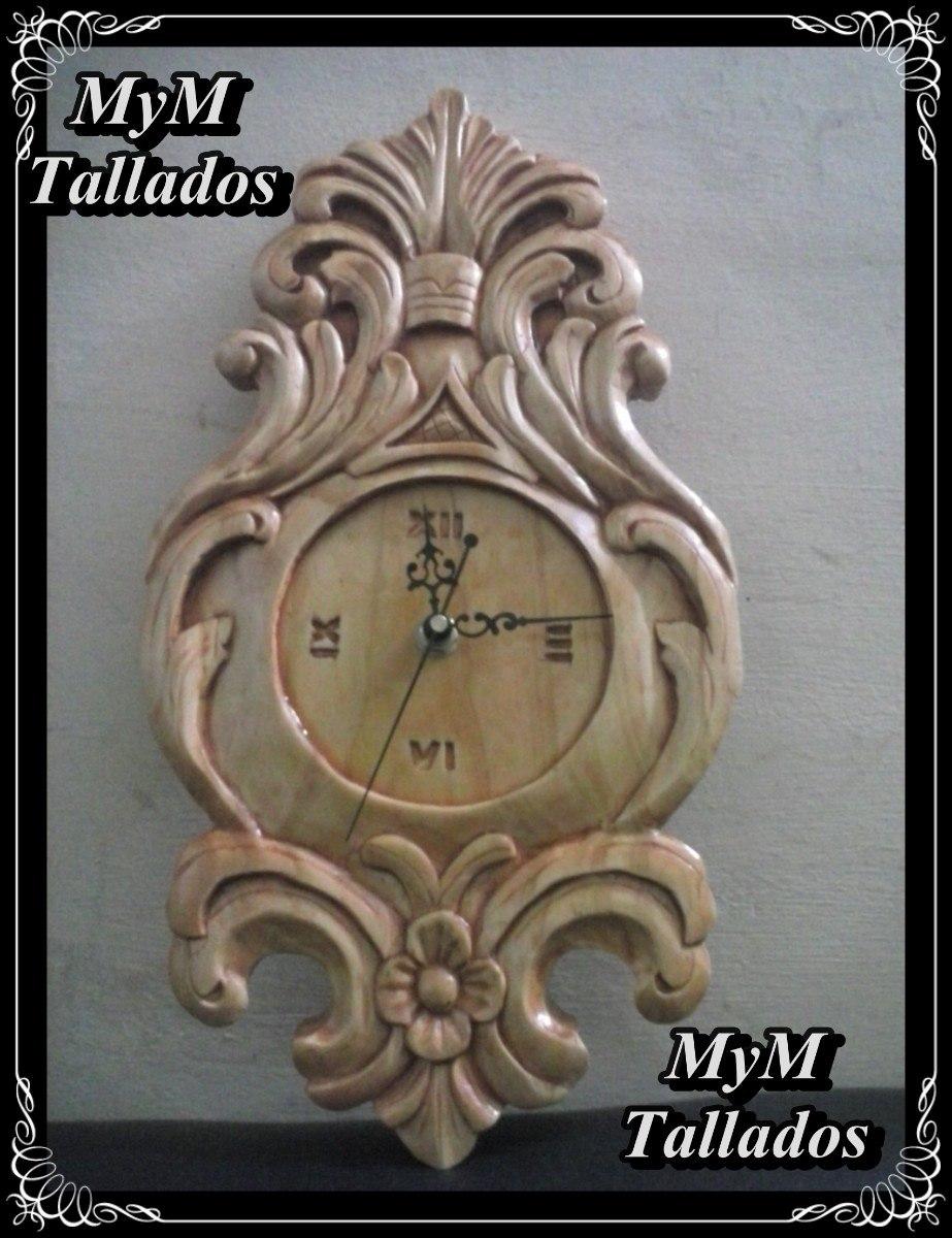 reloj de madera tallado a mano diseños únicos oferta