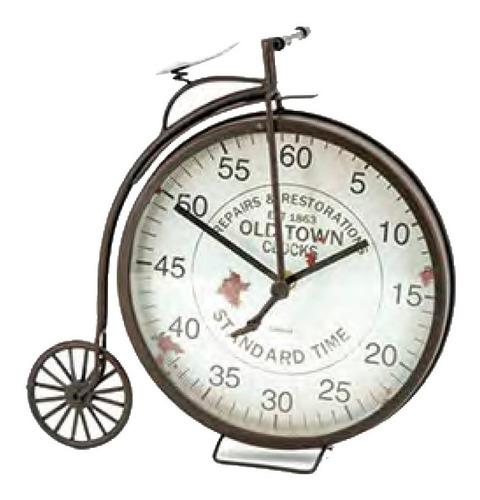 reloj de mesa escritorio vintage bicicleta antigua rueda gde