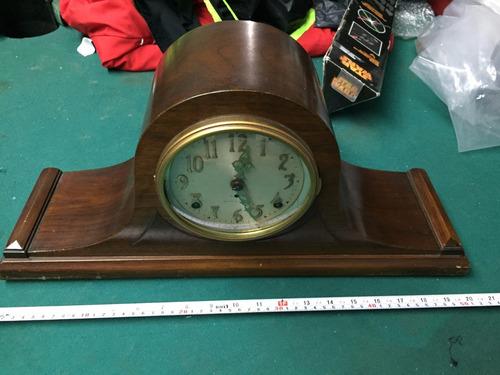 reloj de mesa o chimenea antiguo dos cuerdas seth thomas