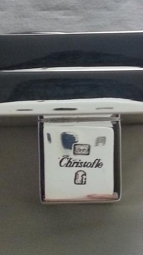 reloj de mesa plateado christofle