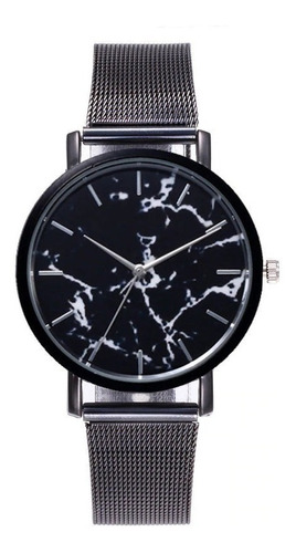 reloj de moda para hombre o mujer correa metalica marmol