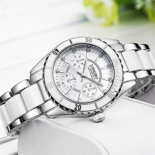 b99a6cc95940 Reloj De Moda Para Mujer Reloj De Pulsera De Ceramica Y Alea ...