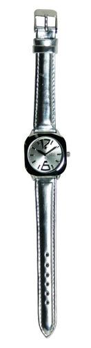 reloj de mujer plateado status malla de cuero con garantía