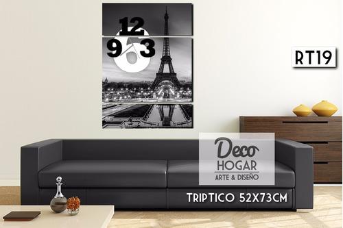 reloj de pared 110x52cm, diseños modernos cuadro decoración