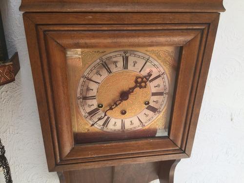reloj de pared 3 cuerdas antiguo aleman