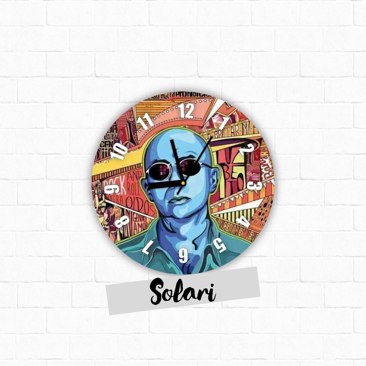 Reloj De Pared 30cm Diseño Indio Solari Rock -homaredesign - $ 420 ...