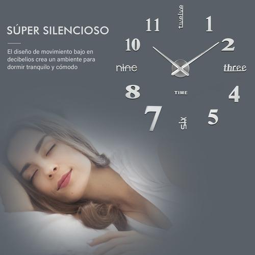 reloj de pared 3d moderno grande de cuarzo y acrílico nuevo