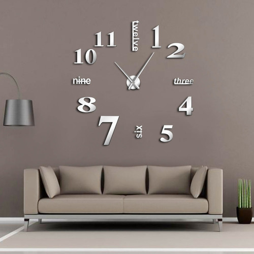 reloj de pared 3d moderno sin marco para bricolaje