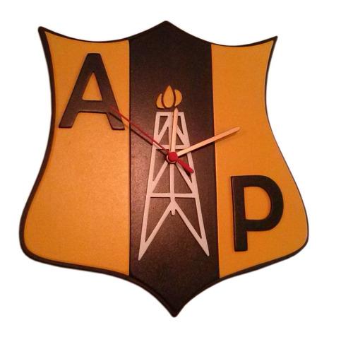 reloj de pared alianza petrolera en madera
