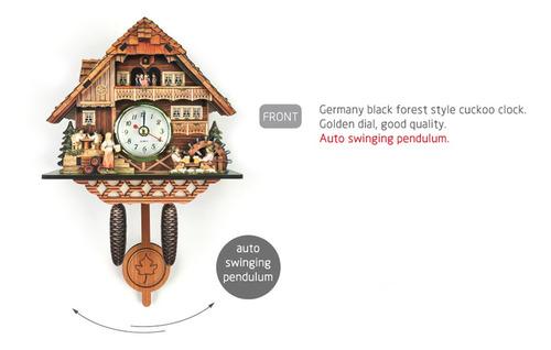 reloj de pared antiguo de cuco reloj de madera decoración
