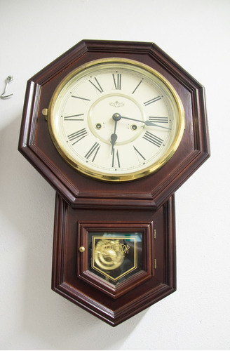 Reloj de pared antiguo regulator unico 8 en for Relojes de pared antiguos precios