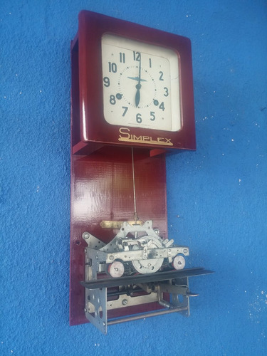 reloj de pared antiguo time recorder simplex usa decorativo