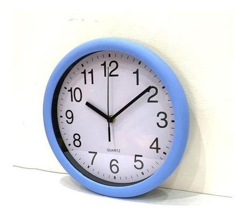 reloj de pared azul/rojo/blanco 27cm 1 pila aa