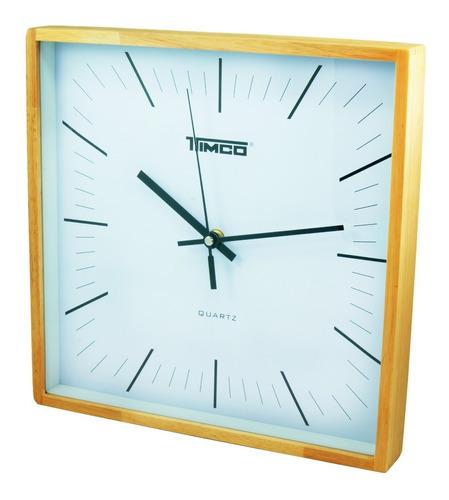 reloj de pared bambú cuadrado fa-6462-r