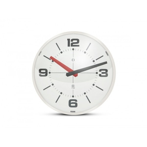reloj de pared burbuja blanco/blanco - belgrano