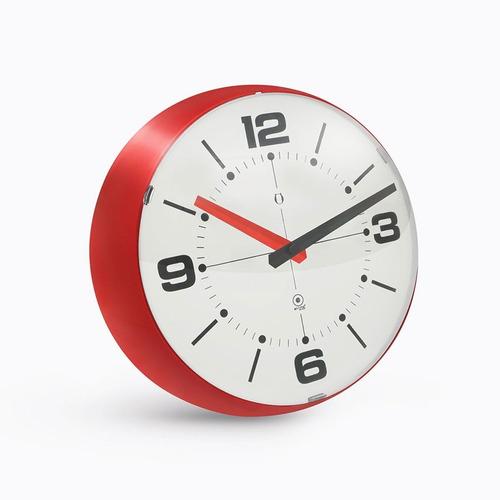reloj de pared burbuja blanco/rojo - belgrano