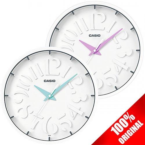 reloj de pared casio análogo iq64 azul 30 cm