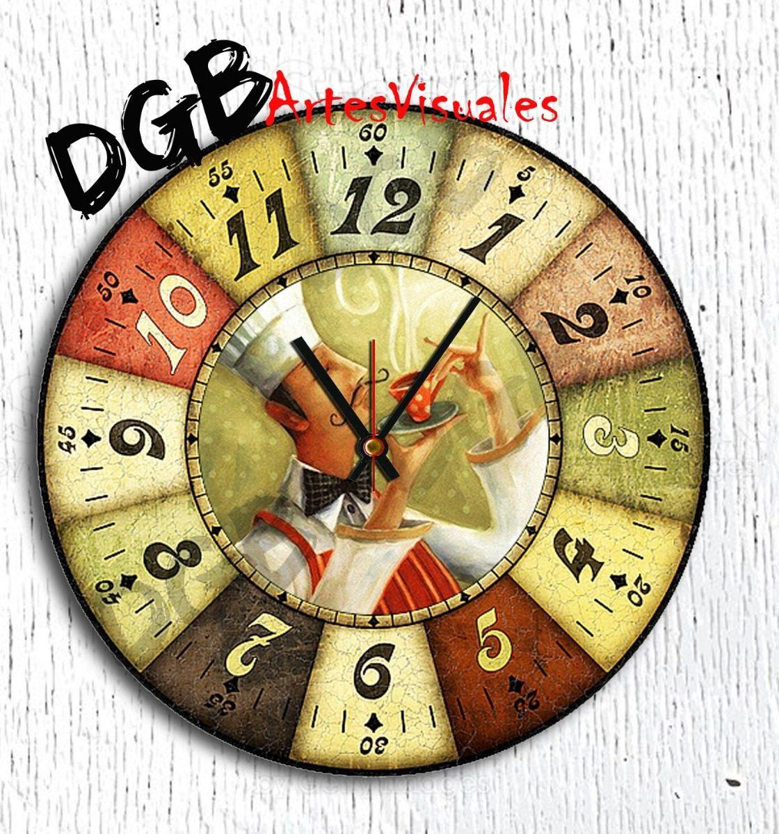 83e0ab31734f Reloj De Pared Cocina Deco 30 Cm Unicos!!! -   349