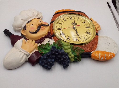 reloj de pared cocinero