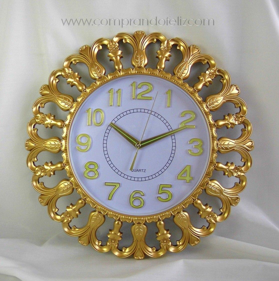 1a4fbc8c36be Reloj De Pared Color Oro