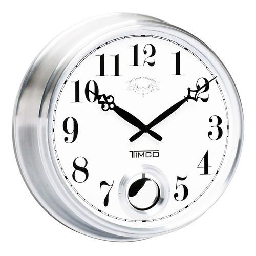 reloj de pared con movimiento pendular 36.5 cm hyw170
