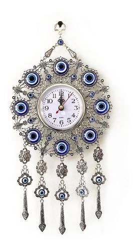 reloj de pared con ojo turco