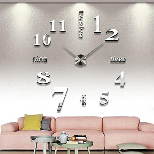 reloj de pared de 3d diy, timelike 1m moderno frameless 3d g