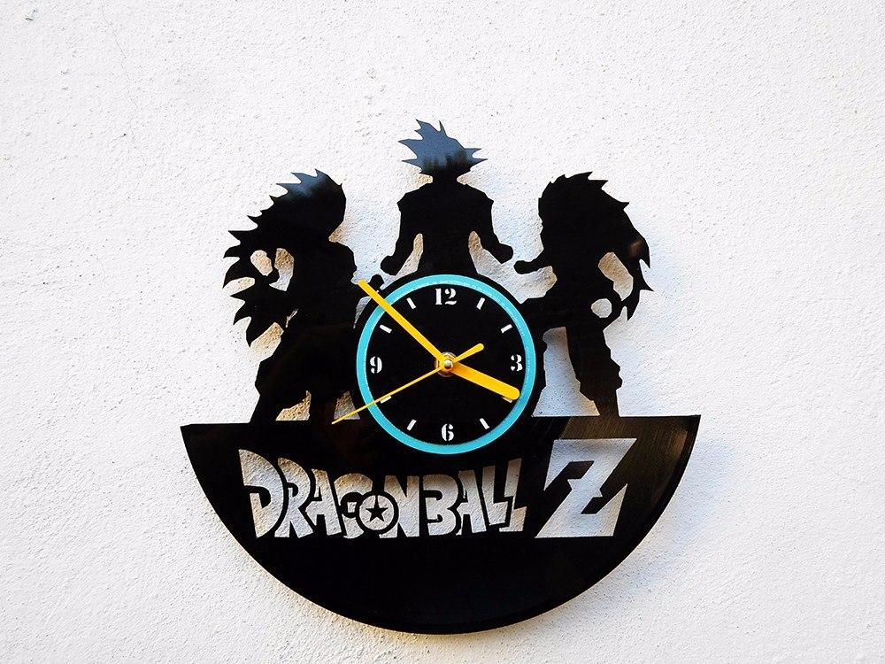 Reloj de pared de disco vinilo vinil acetato dragon ball z - Reloj de pared de diseno ...