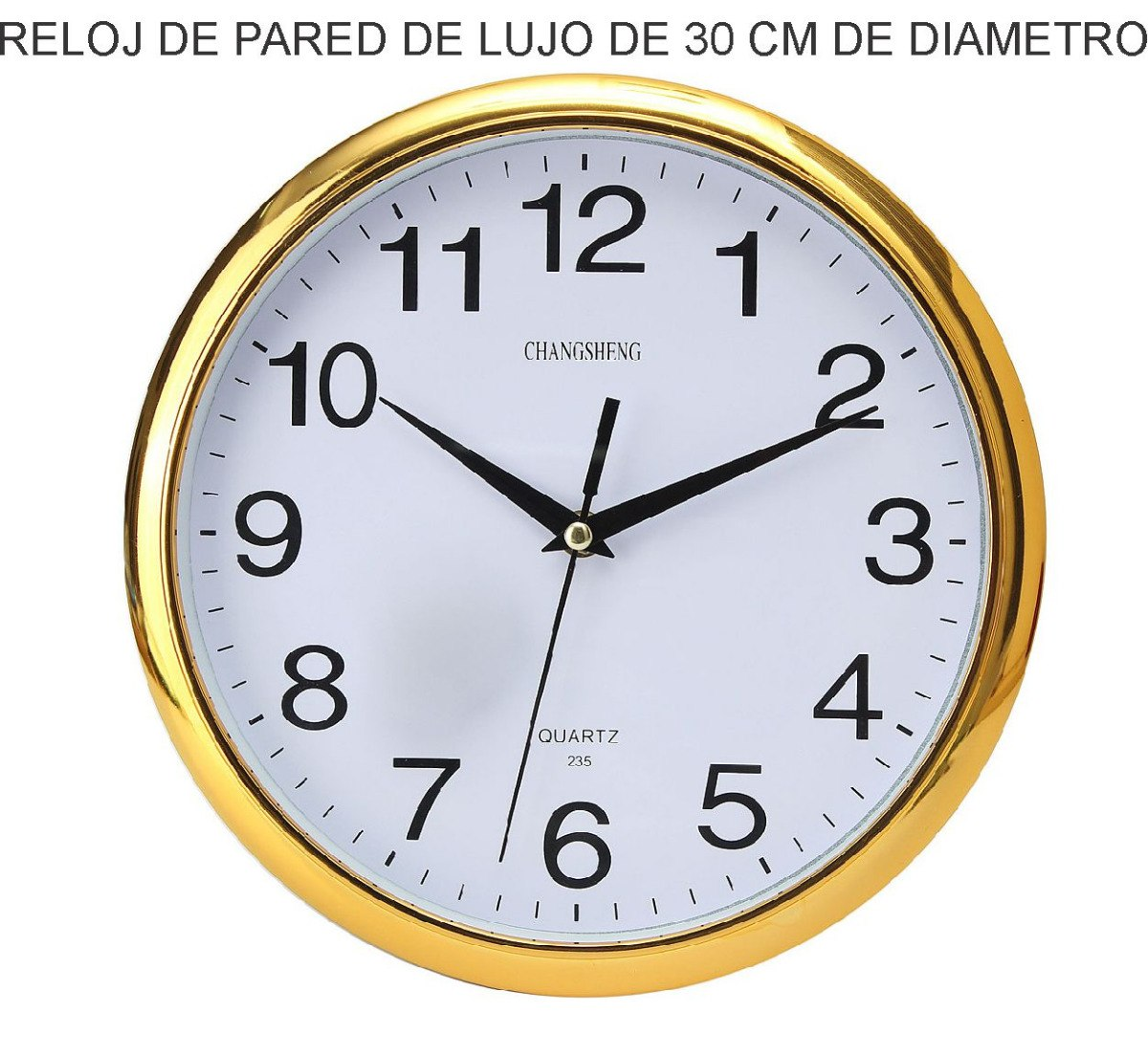 Reloj de pared de lujo cocina regalo empresa logo dorado - Relojes pared cocina ...