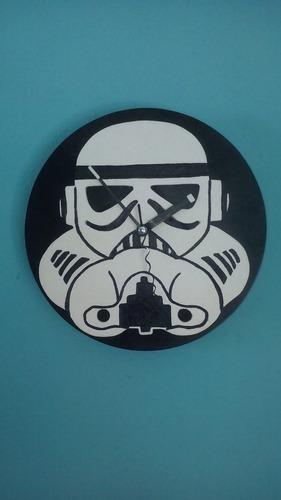 reloj de pared de madera, stormtrooper