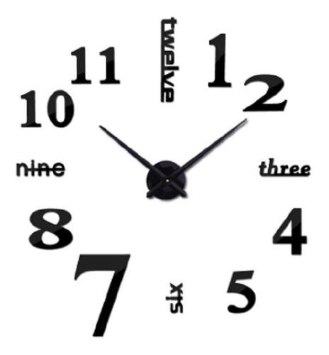 reloj de pared decorativo 3d