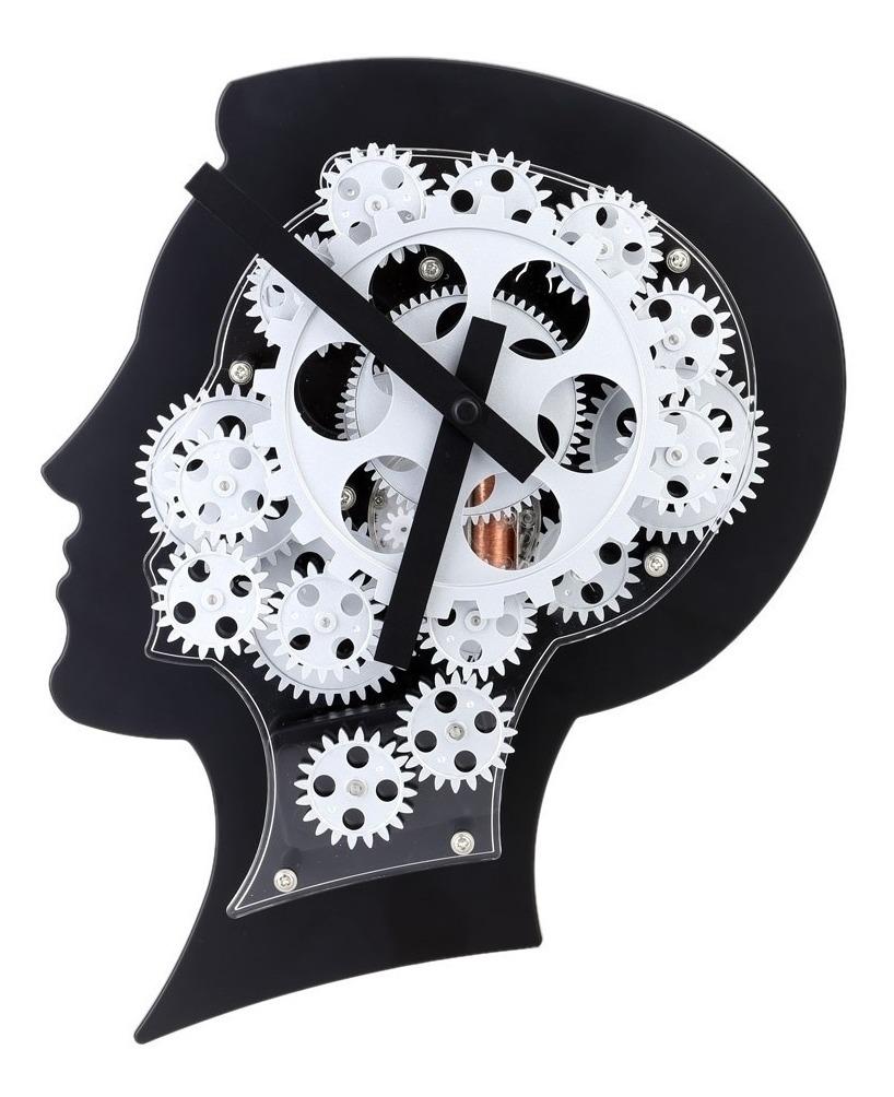 Pared Oficina Engranes Hogar De Cerebro Reloj Decorativo Con mn8wyv0ON