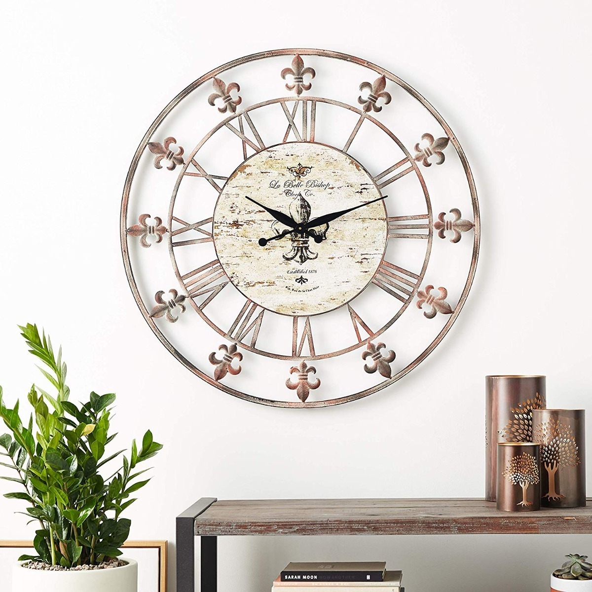 Como Se Escribe 91 En Numeros Romanos reloj de pared decorativo numeros romanos grande 90 cm
