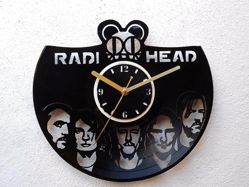 reloj de pared disco de vinilo vinil acetato lp radiohead