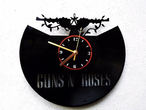 Reloj de pared disco vinilo acetato vinil guns and roses - Relojes de vinilo ...