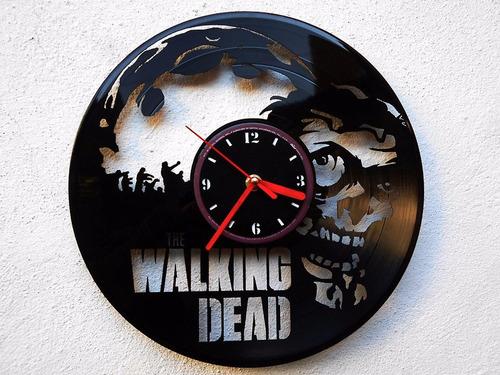 Reloj de pared disco vinilo vinil acetato the walking dead - Reloj vinilo pared ...