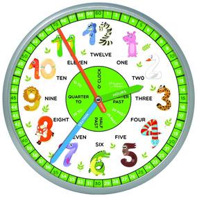 40ccacbc2d15 Reloj De Pared Educativo Para Aulas Y Habitaciones De Niños