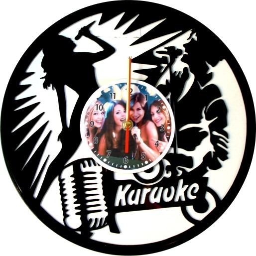 Pared Lp Karaoke De o En Reloj Disco Acetato nOw80Pk
