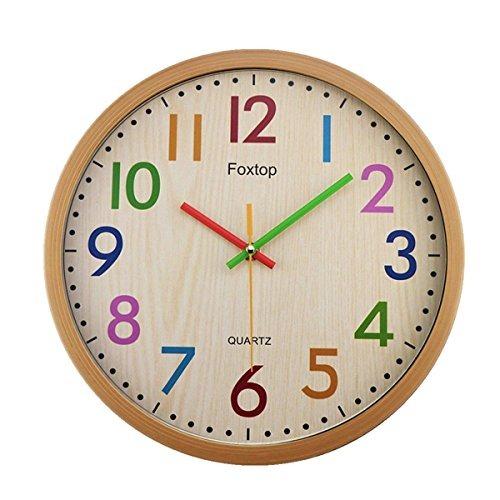 66ab215466d4 Reloj De Pared Infantil Silencioso De Foxtop 12.5 Pulgadas -   105.890 en  Mercado Libre