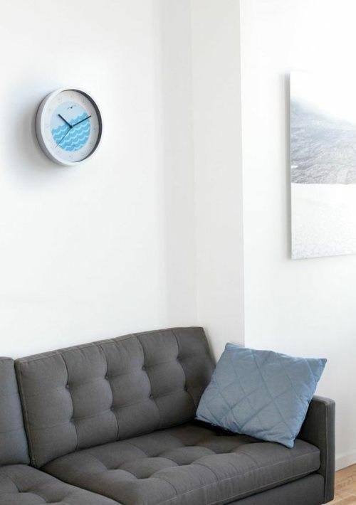 Reloj de pared kikkerland portico mar dise o puerto marino - Reloj de pared de diseno ...