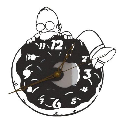 reloj de pared los simpsons homero dona analógico 20cm